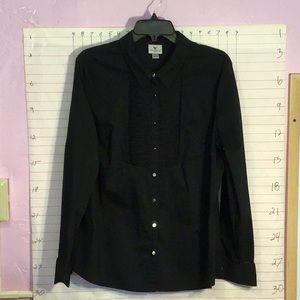 WORTHINGTON STRETCH women's button down  XL  black